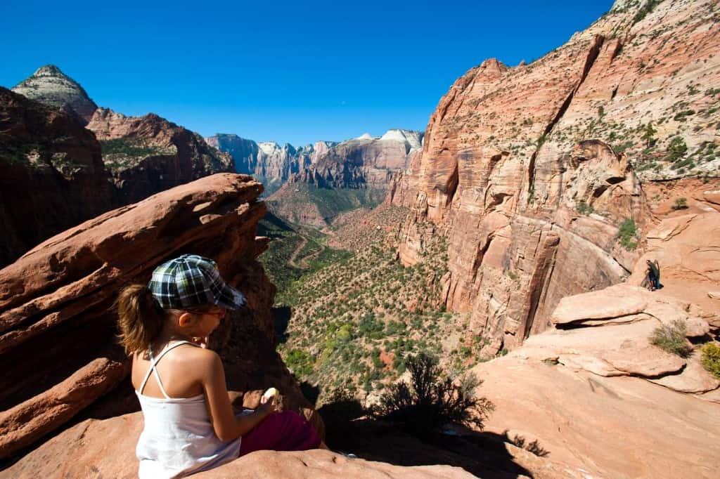 Miradouro no finaldo trilho Canyon Overlook, Zion